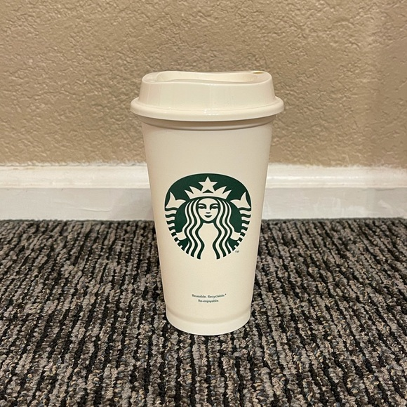 Starbucks White Reusable Cup